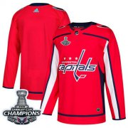 Wholesale Cheap Adidas Capitals Blank Red Home Authentic Stanley Cup Final Champions Stitched Youth NHL Jersey