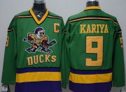 Wholesale Cheap Ducks #9 Paul Kariya Green CCM Throwback Stitched NHL Jersey