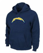 Wholesale Cheap Los Angeles Chargers Logo Pullover Hoodie Dark Blue
