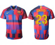 Wholesale Cheap Barcelona #23 Umtiti 20th Anniversary Stadium Soccer Club Jersey
