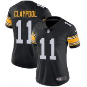Wholesale Cheap Nike Steelers #11 Chase Claypool Black Alternate Women's Stitched NFL Vapor Untouchable Limited Jersey