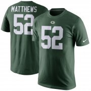 Wholesale Cheap Green Bay Packers #52 Clay Matthews Nike Player Pride Name & Number T-Shirt Green