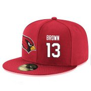 Wholesale Cheap Arizona Cardinals #13 Jaron Brown Snapback Cap NFL Player Red with White Number Stitched Hat