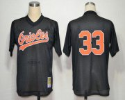Wholesale Cheap Mitchell and Ness Orioles #33 Eddie Murray Throwback Black Stitched MLB Jersey
