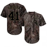 Wholesale Cheap White Sox #41 Kelvin Herrera Camo Realtree Collection Cool Base Stitched MLB Jersey