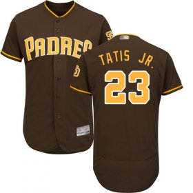 Wholesale Cheap Padres #23 Fernando Tatis Jr. Brown Flexbase Authentic Collection Stitched MLB Jersey