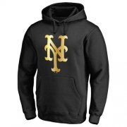 Wholesale Cheap New York Mets Gold Collection Pullover Hoodie Black