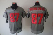 Wholesale Cheap Nike Patriots #87 Rob Gronkowski Grey Shadow Men's Stitched NFL Elite Jersey