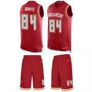 Wholesale Cheap Nike Buccaneers #84 Cameron Brate Red Team Color Men's Stitched NFL Limited Tank Top Suit Jersey