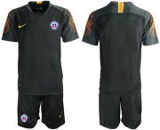 Wholesale Cheap Chile Blank Black Goalkeeper Soccer Country Jersey