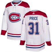 Wholesale Cheap Adidas Canadiens #31 Carey Price White Authentic Stitched Youth NHL Jersey
