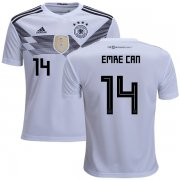 Wholesale Cheap Germany #14 Emre Can White Home Kid Soccer Country Jersey