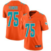 Wholesale Cheap Nike Dolphins #75 Ereck Flowers Orange Youth Stitched NFL Limited Inverted Legend Jersey