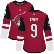 Wholesale Cheap Adidas Coyotes #9 Clayton Keller Maroon Home Authentic Women's Stitched NHL Jersey