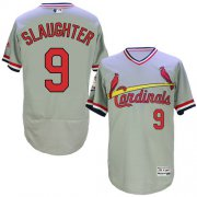 Wholesale Cheap Cardinals #9 Enos Slaughter Grey Flexbase Authentic Collection Cooperstown Stitched MLB Jersey