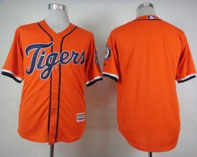 Wholesale Cheap Tigers Blank Orange Cool Base Stitched MLB Jersey