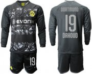 Wholesale Cheap Dortmund #19 Dahoud Away Long Sleeves Soccer Club Jersey