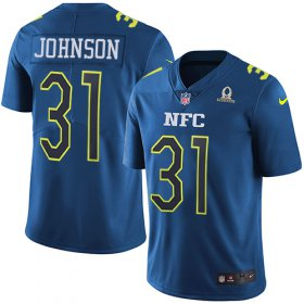 Wholesale Cheap Nike Cardinals #31 David Johnson Navy Men\'s Stitched NFL Limited NFC 2017 Pro Bowl Jersey