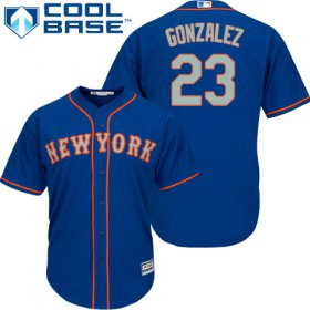 Wholesale Cheap Mets #23 Adrian Gonzalez Blue(Grey NO.) Cool Base Stitched Youth MLB Jersey