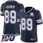 Wholesale Cheap Nike Cowboys #89 Blake Jarwin Navy Blue Team Color Men's Stitched With Established In 1960 Patch NFL 100th Season Vapor Untouchable Limited Jersey