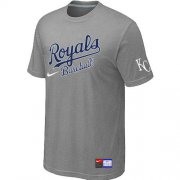 Wholesale Cheap MLB Kansas City Royals Light Grey Nike Short Sleeve Practice T-Shirt