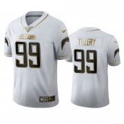 Wholesale Cheap Los Angeles Chargers #99 Jerry Tillery Men's Nike White Golden Edition Vapor Limited NFL 100 Jersey
