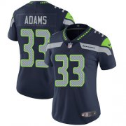 Wholesale Cheap Nike Seahawks #33 Jamal Adams Steel Blue Team Color Women's Stitched NFL Vapor Untouchable Limited Jersey