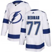 Cheap Adidas Lightning #77 Victor Hedman White Road Authentic Stitched Youth NHL Jersey