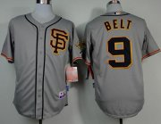 Wholesale Cheap Giants #9 Brandon Belt Grey Road 2 Cool Base Stitched MLB Jersey