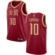 Wholesale Cheap Rockets #10 Eric Gordon Red Basketball Swingman City Edition 2018-19 Jersey