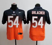 Wholesale Cheap Nike Bears #54 Brian Urlacher Navy Blue/Orange Men's Stitched NFL Elite Fadeaway Fashion Jersey