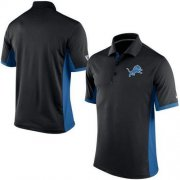 Wholesale Cheap Men's Nike NFL Detroit Lions Black Team Issue Performance Polo