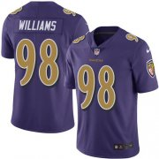 Wholesale Cheap Nike Ravens #98 Brandon Williams Purple Men's Stitched NFL Limited Rush Jersey