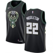 Cheap Youth Milwaukee Bucks #22 Khris Middleton Black Basketball Swingman Statement Edition Jersey