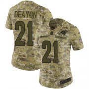 Wholesale Cheap Nike Rams #21 Donte Deayon Camo Women's Stitched NFL Limited 2018 Salute To Service Jersey