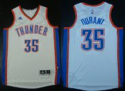 Wholesale Cheap Oklahoma City Thunder #35 Kevin Durant Revolution 30 Swingman 2014 New White Jersey