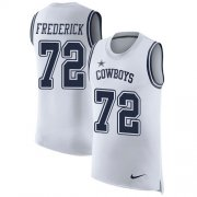 Wholesale Cheap Nike Cowboys #72 Travis Frederick White Men's Stitched NFL Limited Rush Tank Top Jersey