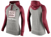 Wholesale Cheap Women's Nike New York Giants Performance Hoodie Grey & Red