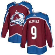 Wholesale Cheap Adidas Avalanche #9 Lanny McDonald Burgundy Home Authentic Stitched NHL Jersey