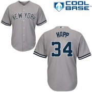 Wholesale Cheap Yankees #34 J.A. Happ Grey New Cool Base Stitched Youth MLB Jersey