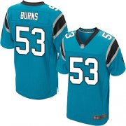 Wholesale Cheap Nike Panthers #53 Brian Burns Blue Alternate Men's Stitched NFL Elite Jersey