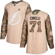 Cheap Adidas Lightning #71 Anthony Cirelli Camo Authentic 2017 Veterans Day Stitched NHL Jersey