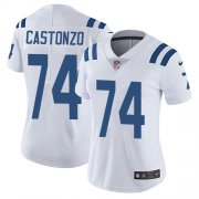Wholesale Cheap Nike Colts #74 Anthony Castonzo White Women's Stitched NFL Vapor Untouchable Limited Jersey
