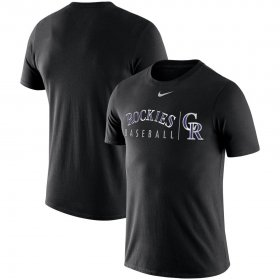 Wholesale Cheap Colorado Rockies Nike MLB Practice T-Shirt Black