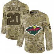 Wholesale Cheap Adidas Wild #20 Ryan Suter Camo Authentic Stitched NHL Jersey