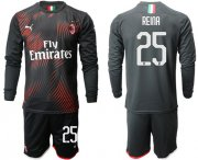 Wholesale Cheap AC Milan #25 Reina Third Long Sleeves Soccer Club Jersey
