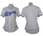 Wholesale Cheap Royals Blank White Home Women's Stitched MLB Jersey