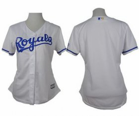 Wholesale Cheap Royals Blank White Home Women\'s Stitched MLB Jersey