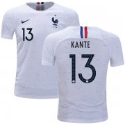 Wholesale Cheap France #13 Kante Away Kid Soccer Country Jersey