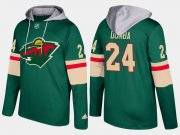Wholesale Cheap Wild #24 Matt Dumba Green Name And Number Hoodie